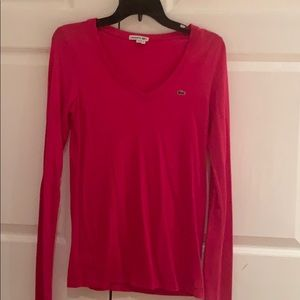 Lacoste long sleeve v neck size 38